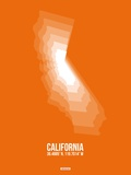 California Radiant Map 7 Plastic Sign by  NaxArt