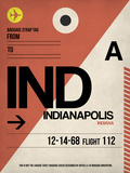 IND Indianapolis Luggage Tag 1 Plastic Sign by  NaxArt