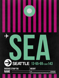 SEA Seattle Luggage Tag 2 Plastic Sign by  NaxArt