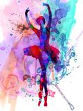 Ballerina's Dance Watercolor 3 Plastic Sign by Irina March