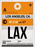 LAX Los Angeles Luggage Tag 2 Plastic Sign by  NaxArt