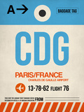 CDG Paris Luggage Tag 2 Plastic Sign by  NaxArt