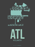 Atl Atlanta Poster 2 Plastic Sign by  NaxArt