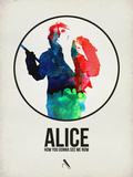 Alice Watercolor Plastic Sign by David Brodsky