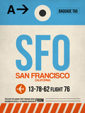 SFO San Francisco Luggage Tag 1 Plastic Sign by  NaxArt