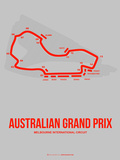 Australian Grand Prix 1 Plastic Sign by  NaxArt
