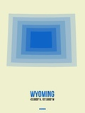 Wyoming Radiant Map 1 Plastic Sign by  NaxArt