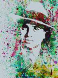 Al Capone Watercolor Plastic Sign by Anna Malkin