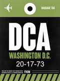 DCA Washington Luggage Tag 2 Plastic Sign by  NaxArt