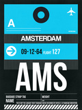 AMS Amsterdam Luggage Tag 1 Plastic Sign by  NaxArt