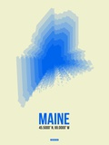 Maine Radiant Map 1 Plastic Sign by  NaxArt