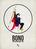 Bono Watercolor Signe en plastique rigide par David Brodsky