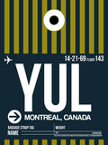YUL Montreal Luggage Tag 1 Plastic Sign by  NaxArt