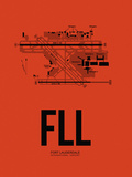 FLL Fort Lauderdale Airport Orange Plastic Sign by  NaxArt