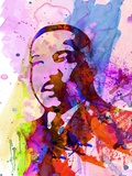 Martin Luther King Watercolor Plastic Sign by Anna Malkin