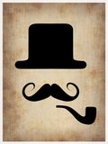 Hat Glasses and Mustache 4 Plastic Sign by  NaxArt
