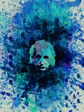 Einstein Watercolor 2 Plastic Sign by Anna Malkin