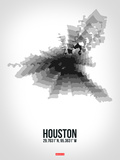 Houston Radiant Map 4 Plastic Sign by  NaxArt