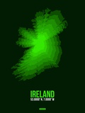 Ireland Radiant Map 2 Plastic Sign by  NaxArt