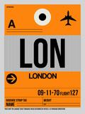 LON London Luggage Tag 1 Znaki plastikowe autor NaxArt