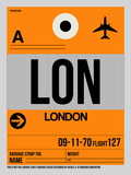 LON London Luggage Tag 1 Plastic Sign by  NaxArt