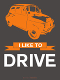 I Like to Drive Beetle 4 Plastic Sign by  NaxArt