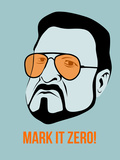 Mark it Zero Poster 1 Plastic Sign by Anna Malkin
