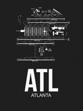ATL Atlanta Airport Black Plastic Sign by  NaxArt