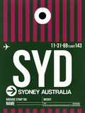 SYD Sydney Luggage Tag 2 Plastic Sign by  NaxArt