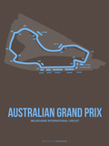 Australian Grand Prix 2 Plastic Sign by  NaxArt