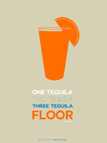 Orange Tequila Shot Plastic Sign by  NaxArt