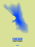 Chicago Radiant Map 1 Plastic Sign by  NaxArt