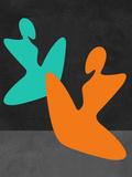 Orange and Blue Girls Plastic Sign by Felix Podgurski