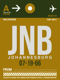 JNB Johannesburg Luggage Tag 1 Plastic Sign by  NaxArt
