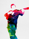 Johnny Watercolor Signes en plastique rigide par Lora Feldman
