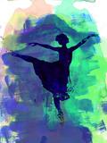 Ballerina's Dance Watercolor 2 Kunststof borden van Irina March