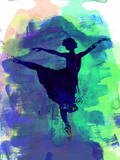 Ballerina's Dance Watercolor 2 Cartel de plástico por Irina March