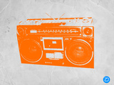 Orange Boom Box Plastic Sign by  NaxArt