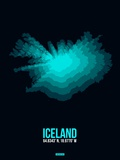 Iceland Radiant Map 2 Plastic Sign by  NaxArt