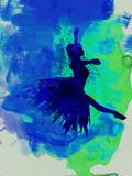 Ballerina on Stage Watercolor 5 Kunststof bord van Irina March