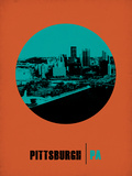 Pittsburgh Circle Poster 1 Plastic Sign by  NaxArt