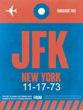 JFK New York Luggage Tag 1 Plastic Sign by  NaxArt