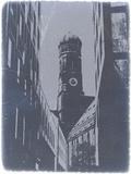 Munich Frauenkirche Plastic Sign by  NaxArt
