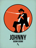 Johnny 1 Plastic Sign by David Brodsky