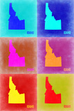 Idaho Pop Art Map 2 Plastic Sign by  NaxArt