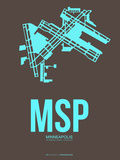 Msp Minneapolis Poster 1 Plastic Sign by  NaxArt