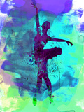 Ballerina Watercolor 4 Kunststof bord van Irina March