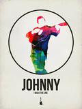 Johnny Watercolor Signe en plastique rigide par David Brodsky