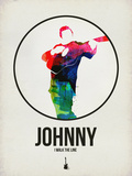 Johnny Watercolor Plastic Sign by David Brodsky