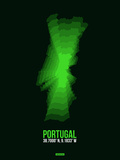 Portugal Radiant Map 2 Plastic Sign by  NaxArt